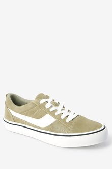Next Suede Side Detail Lace-Up Trainers - 288445