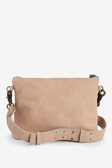Next Leather Stud Across Body Bag - 288487
