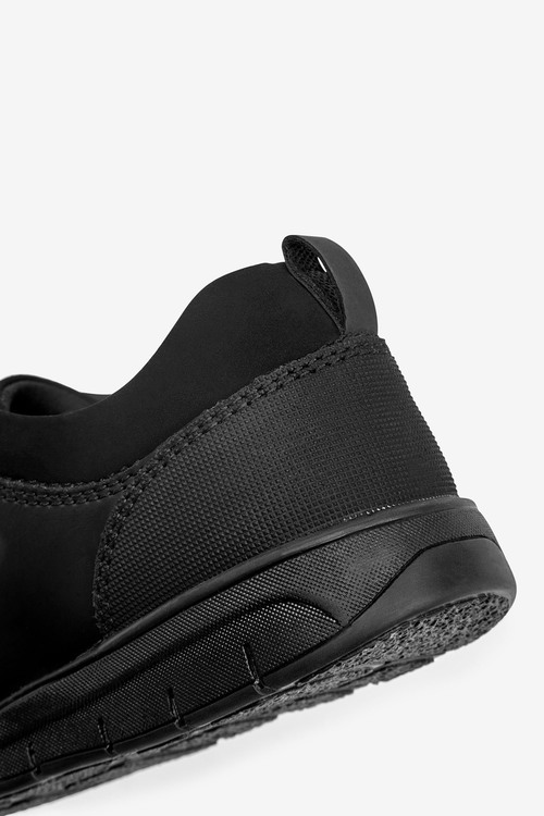 Next Thinsulate Lined Black Leather Lace-Up Shoes (Older)-Narrow Fit