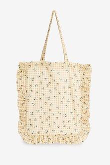 Next Printed Cotton Shoulder Bag for Life - 288593