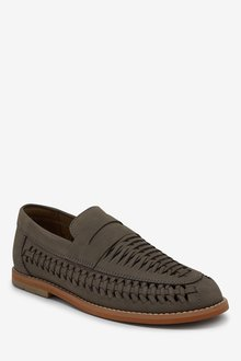 Next Leather Woven Loafers (Older) - 288648