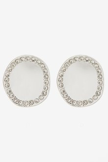 Next Pave Disc Large Stud Earrings - 288715