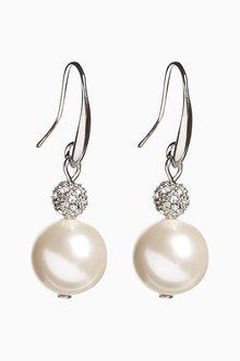 Next Pave Crystal Drop Earrings - 288719
