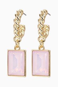 Next Jewel Twisted Hoop Earrings - 288750