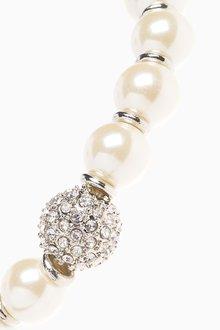 Next Pave Crystal Effect Stretch Bracelet - 288769