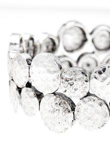 Next Hammered Discs Stretch Bracelet - 288775