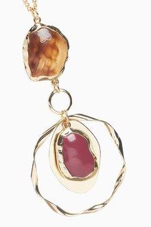 Next Stone Pendant Long Necklace - 288789