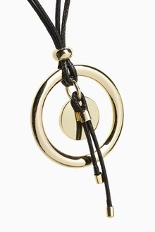 Next Cord Long Pendant Necklace - 288809