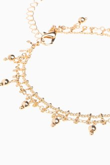 Next Beaded Two Layer Anklet - 288827