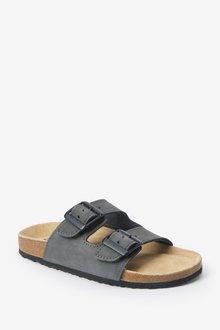 Next Leather Buckle Corkbed Sandals (Older) - 288868