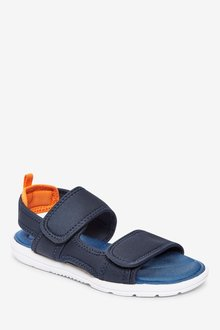 Next Strap Touch Fastening Memory Foam Trekker Sandals (Older) - 288921