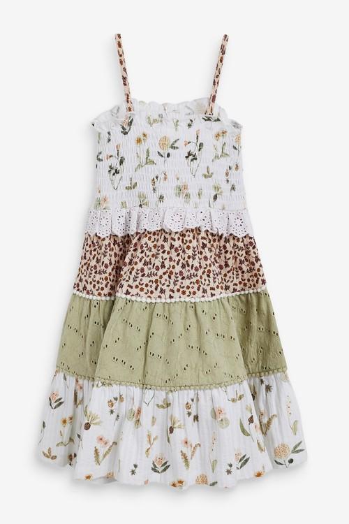 Next Mix Print Sleeveless Tiered Dress (3mths-7yrs)
