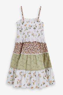 Next Mix Print Sleeveless Tiered Dress (3mths-7yrs) - 288933