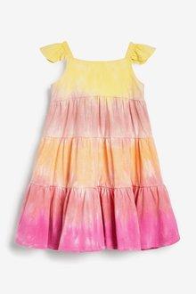 Next Organic Cotton Tie Dye Dress (3mths-7yrs) - 288938