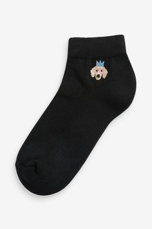 Next Embroidered Cushion Sole Trainer Socks 4 Pack - 288976