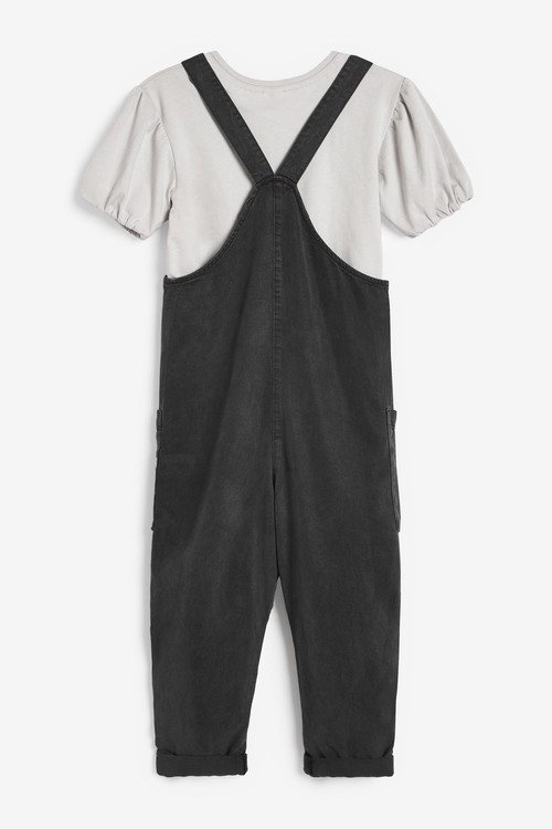 Next Button Front Playsuit With T-Shirt (3-16yrs)