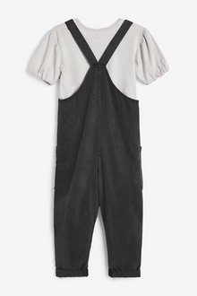 Next Button Front Playsuit With T-Shirt (3-16yrs) - 289006