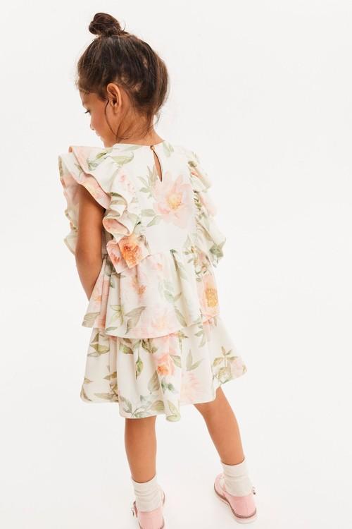 Next Floral Ruffle Ponte Dress (3mths-7yrs)