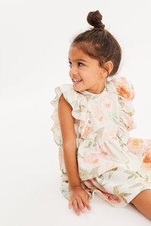 Next Floral Ruffle Ponte Dress (3mths-7yrs) - 289023