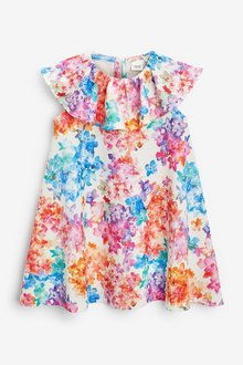 Next Bright Floral Dress (3mths-7yrs) - 289029