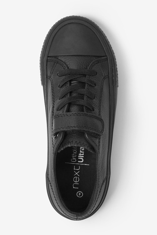Next Leather Single Strap Elastic Laces Bump Toe Shoes (Older)