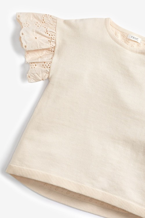 Next Broderie Sleeve Top (3-16yrs)