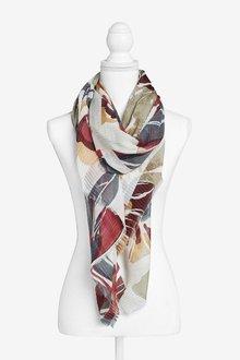 Next Floral Print Crinkle Lightweight Scarf - 289152