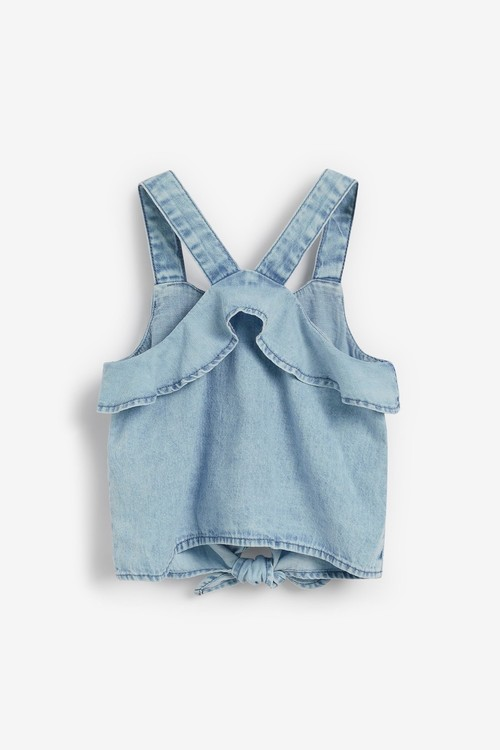 Next Cotton Co-Ord (3-16yrs)-Tie Front Blouse