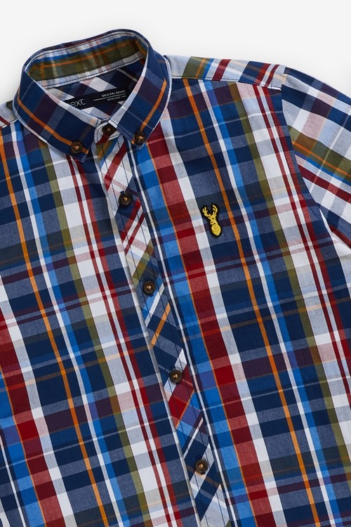 Next Check Short Sleeve Shirt (3-16yrs)