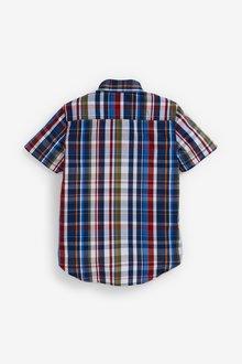 Next Check Short Sleeve Shirt (3-16yrs) - 289236