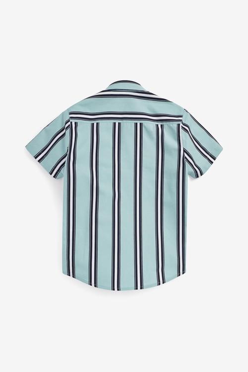 Next Short Sleeve Vertical Striped Shirt (3-16yrs)