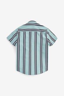 Next Short Sleeve Vertical Striped Shirt (3-16yrs) - 289241