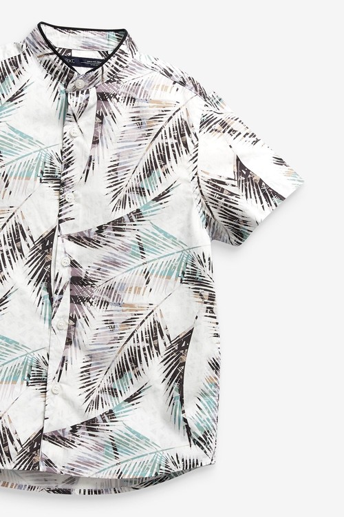 Next Short Sleeve Printed Shirt With Fin Collar (3-16yrs)