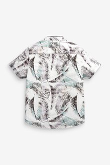 Next Short Sleeve Printed Shirt With Fin Collar (3-16yrs) - 289251