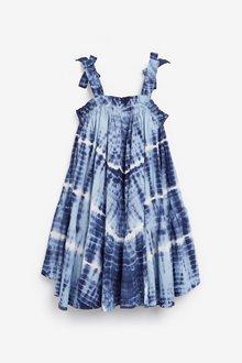 Next Cotton Tie Shoulder Dress (3-16yrs) - 289254