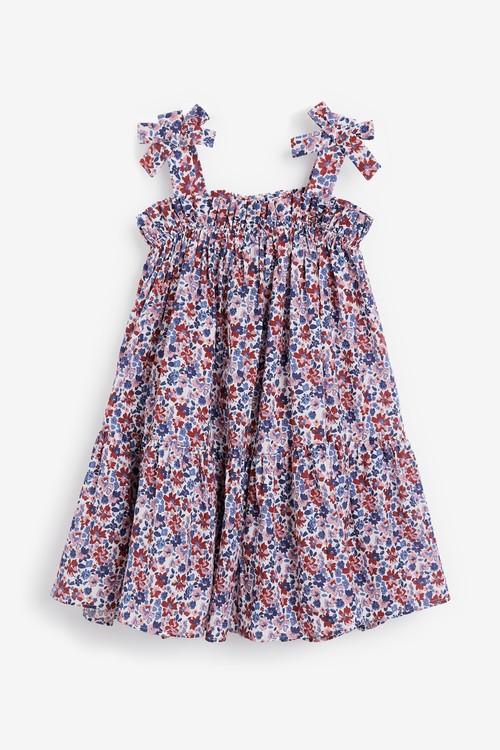 Next Cotton Tie Shoulder Dress (3-16yrs)