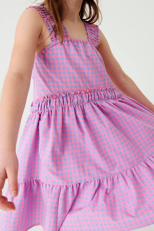 Next Ruched Strap Tiered Dress (3-16yrs)