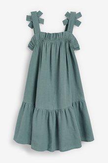 Next Tiered Linen Blend Dress (3-16yrs) - 289267