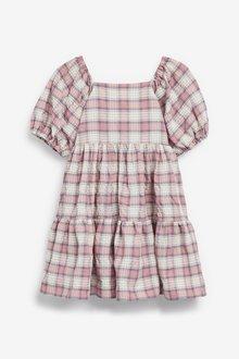 Next Cotton Check Tiered Dress (3-16yrs) - 289276
