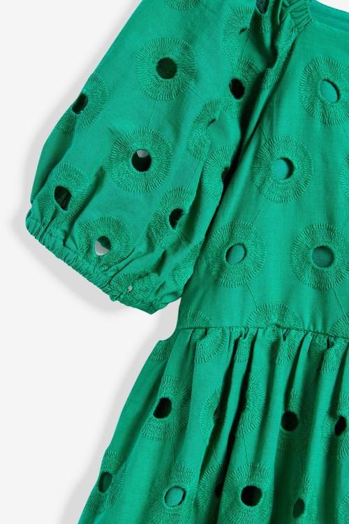 Next Cotton Tiered Broderie Dress (3-16yrs)