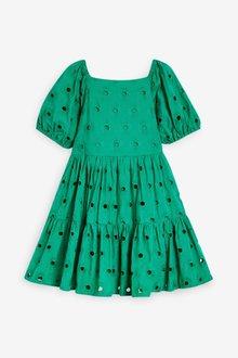 Next Cotton Tiered Broderie Dress (3-16yrs) - 289309