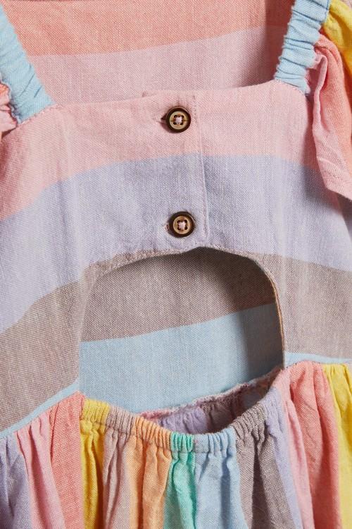 Next Rainbow Stripe Dress (3-16yrs)