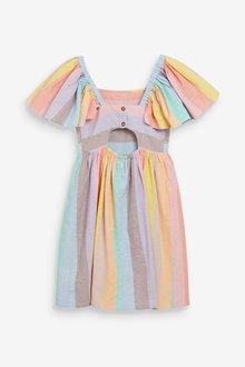 Next Rainbow Stripe Dress (3-16yrs) - 289314