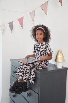 Next Frill Sleeve Maxi Dress (3-16yrs) - 289318