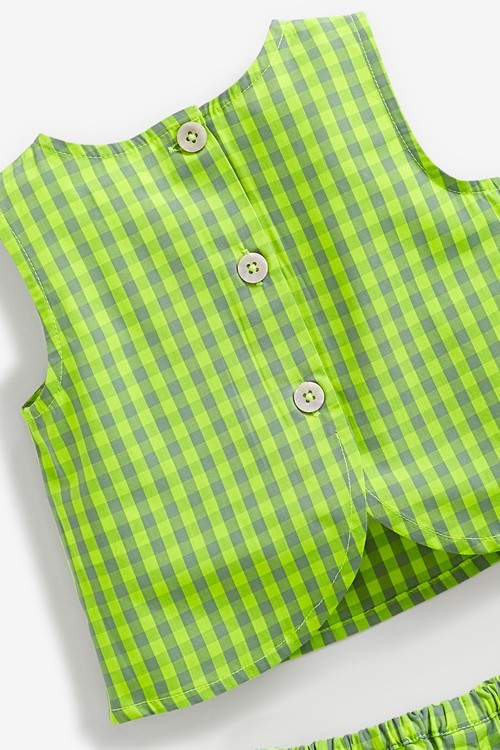 Next Gingham Blouse And Shorts Co-ord Set (3mths-7yrs)