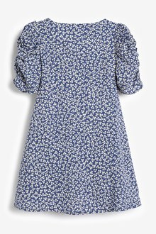 Next Shirred Sleeve Dress (3-16yrs) - 289330