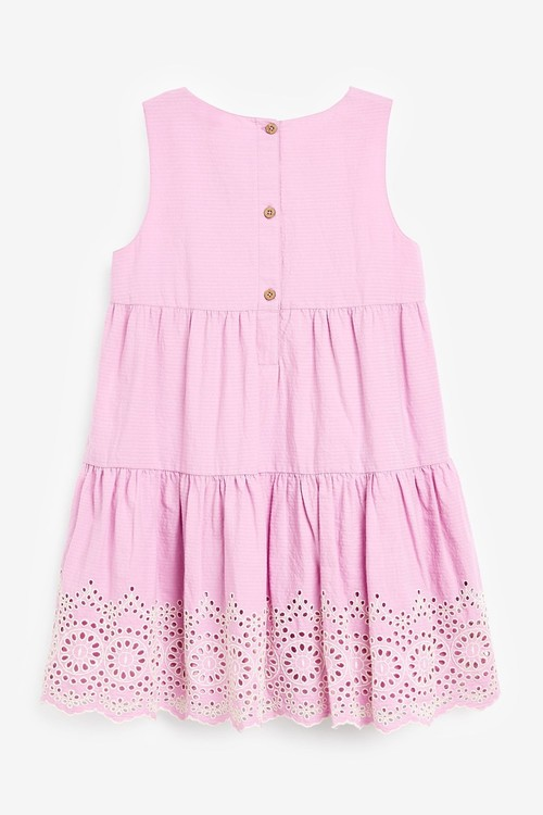 Next Broderie Tiered Dress (3-16yrs)
