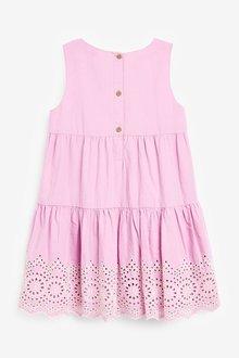 Next Broderie Tiered Dress (3-16yrs) - 289334