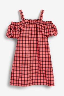 Next Cold Shoulder Check Dress (3-16yrs) - 289339