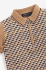 Next Heritage Check Zip Neck Knitted Polo (3-16yrs)